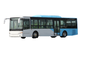 Exterior view of airport bus AB-206